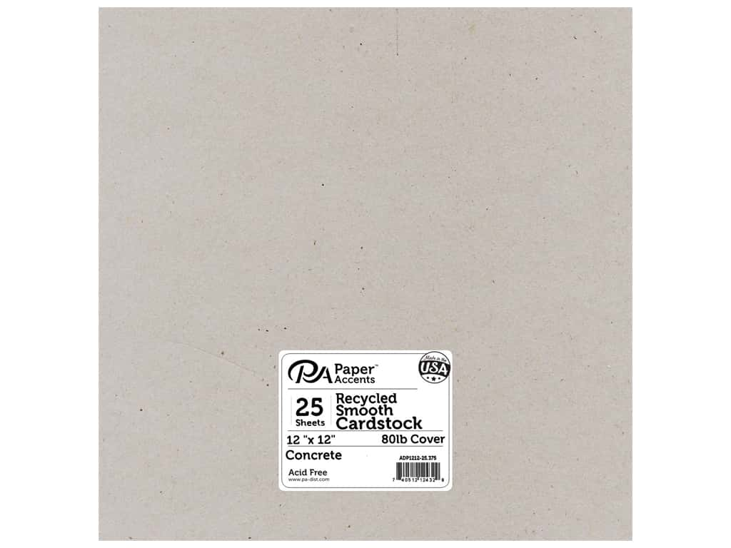 Paper Accents Cardstock 12 x 12 in. #375 Recycled Concrete 25 pc.