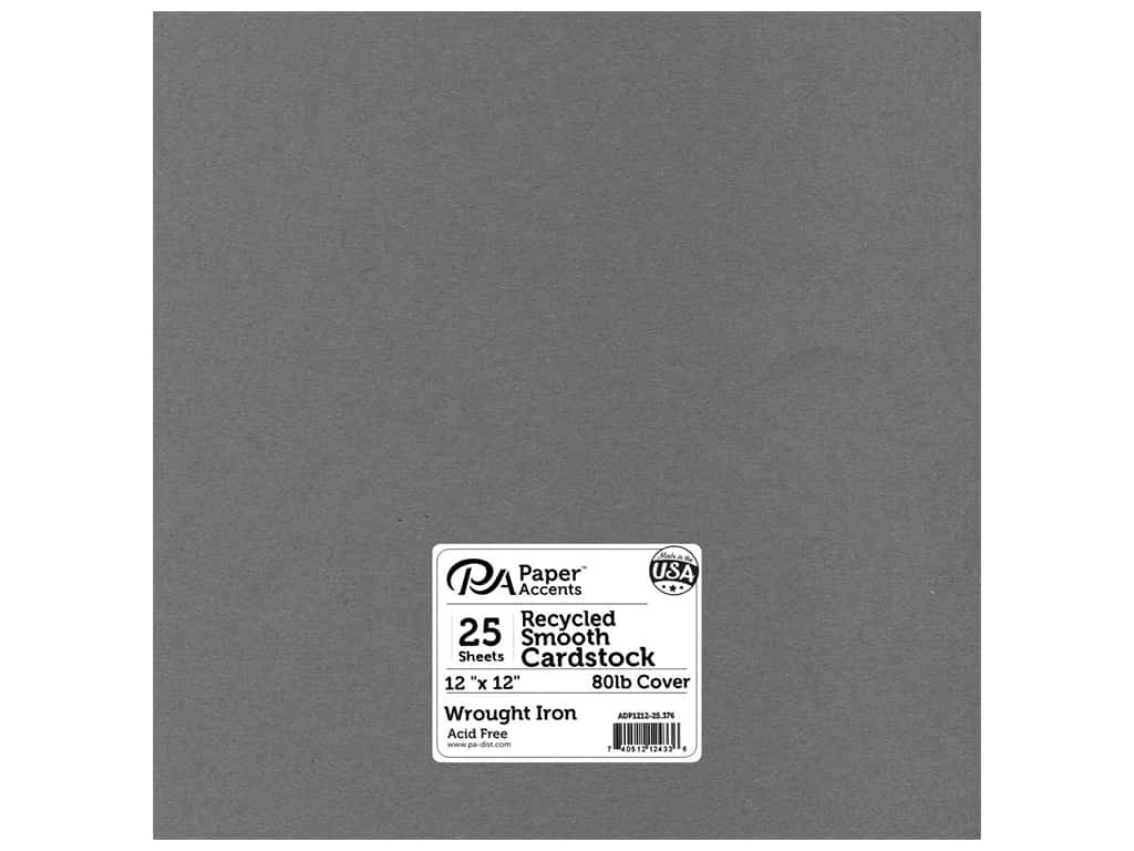 Paper Accents Cardstock 12 x 12 in. #376 Recycled Wrought Iron (25 sheets)