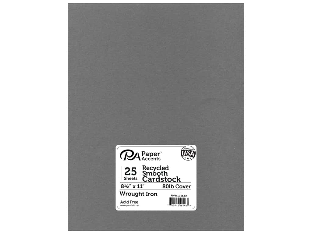 Paper Accents Cardstock 8 1/2 x 11 in. #376  Recycled Wrought Iron 25 pc.