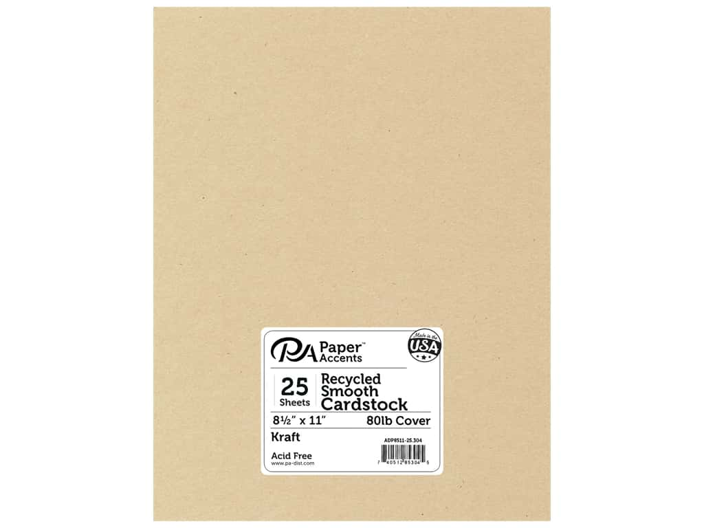 Paper Accents Cardstock 8 1/2 x 11 in. #304 Recycled Kraft 25 pc.