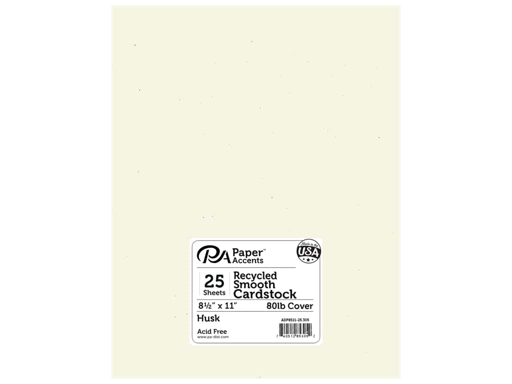 Paper Accents Cardstock 8 1/2 x 11 in. #305 Recycled Husk 25 pc.