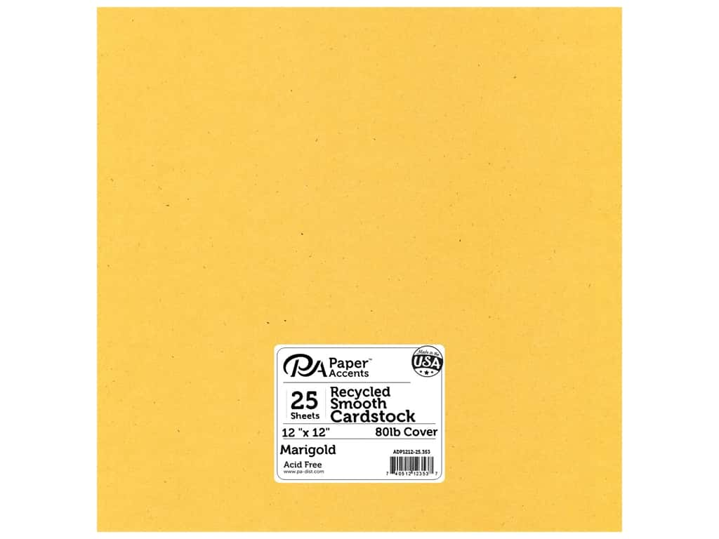 Paper Accents Cardstock 12 x 12 in. #353 Recycled Marigold 25 pc.