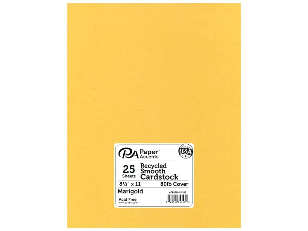 Paper Accents Cardstock 8 1/2 x 11 in. #353 Recycled Marigold 25 pc.