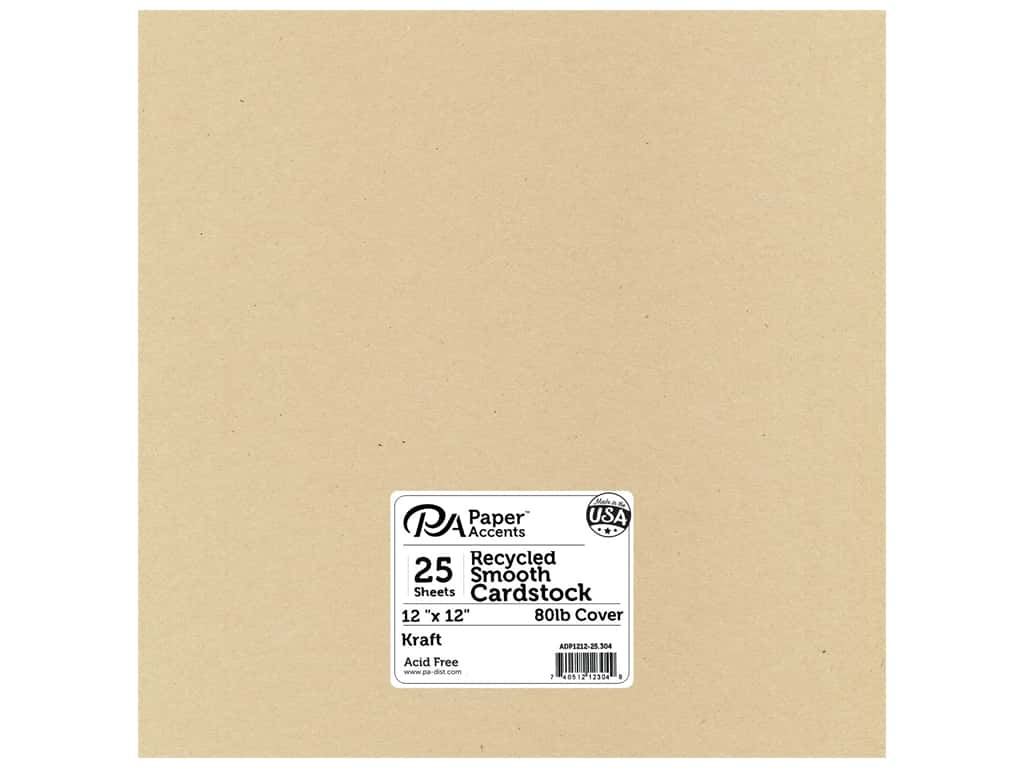 Paper Accents Cardstock 12 x 12 in. #304 Recycled Kraft 25 pc.