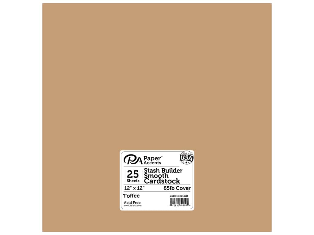Paper Accents Cardstock 12 x 12 in. #10125 Stash Builder Toffee 25 pc.