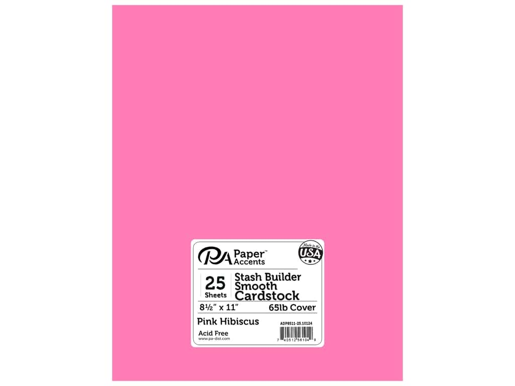 Paper Accents Cardstock 8 1/2 x 11 in. #10124 Stash Builder Pink Hibiscus 25 pc.
