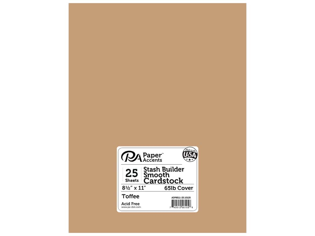 Paper Accents Cardstock 8 1/2 x 11 in. #10125 Stash Builder Toffee 25 pc.