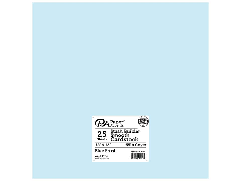 Paper Accents Cardstock 12 x 12 in. Stash Builder Blue Frost 25 pc.