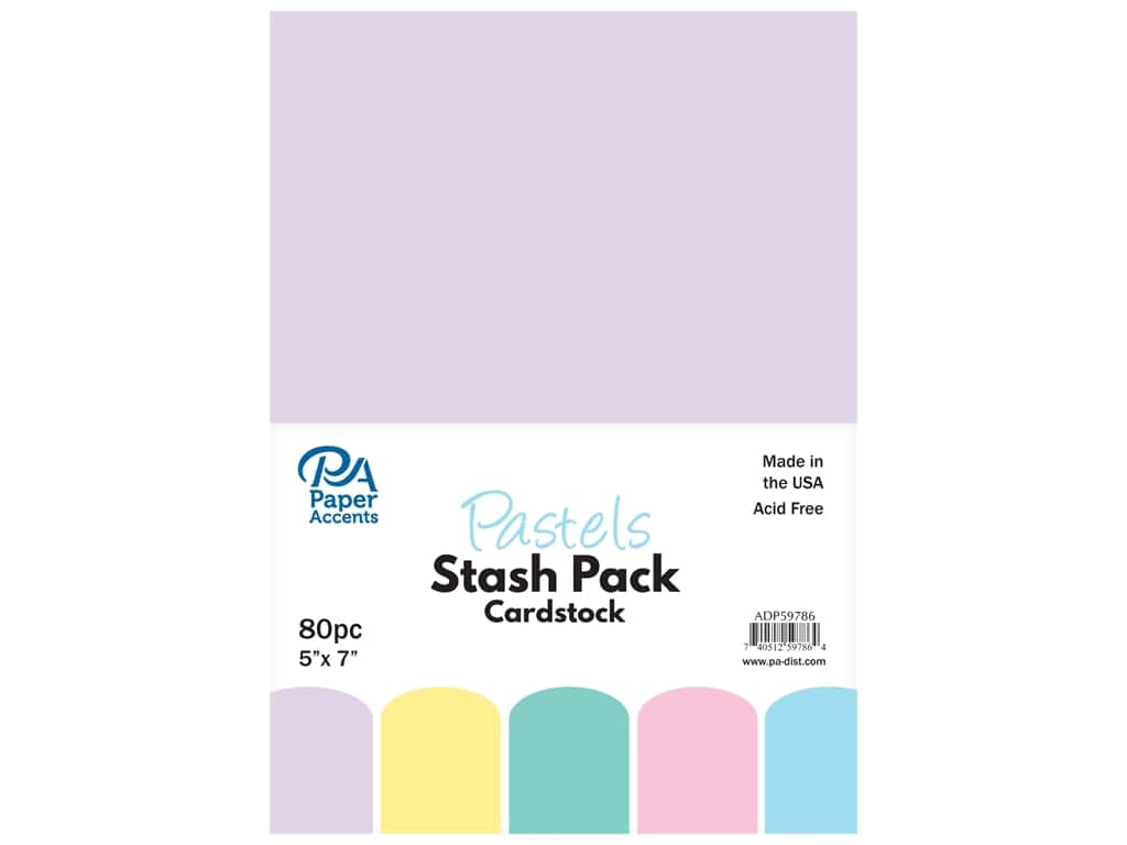 Paper Accents Cardstock Stash Pack 5 x 7 in. Pastels 80 pc.