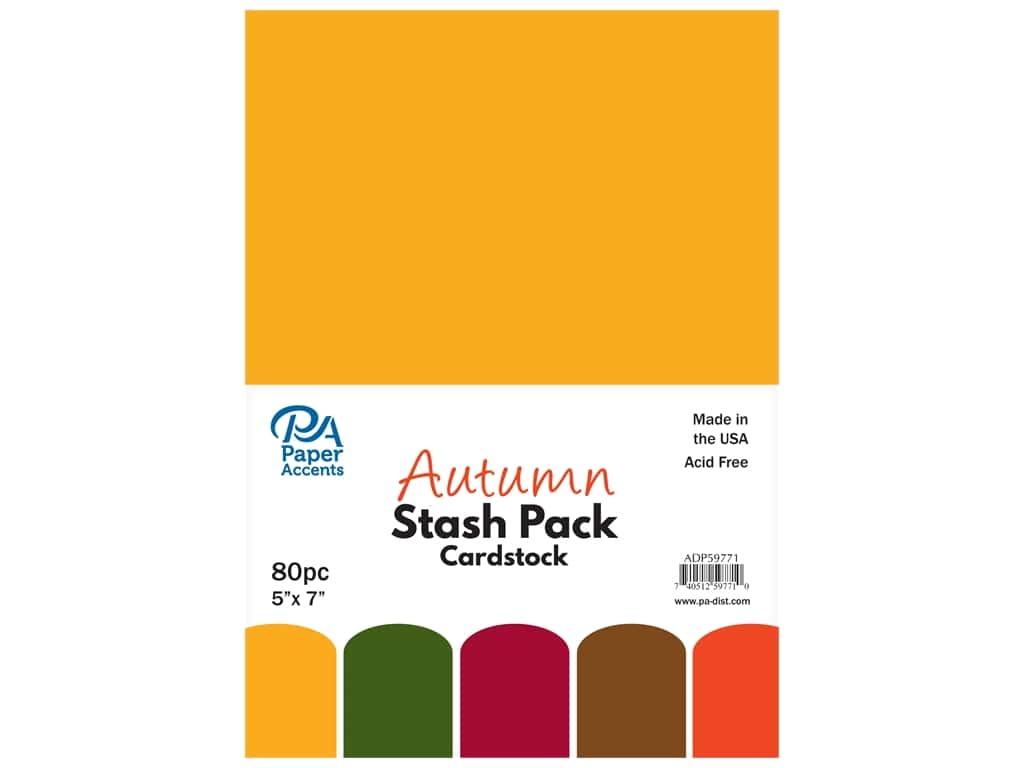 Paper Accents Cardstock Stash Pack 5 x 7 in. Autumn 80 pc.