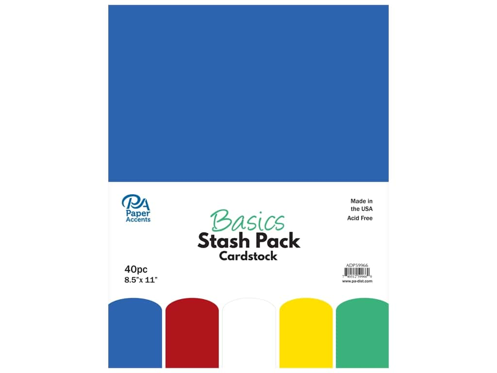 Paper Accents Cardstock Stash Pack 8 1/2 x 11 in. Basics 40 pc.