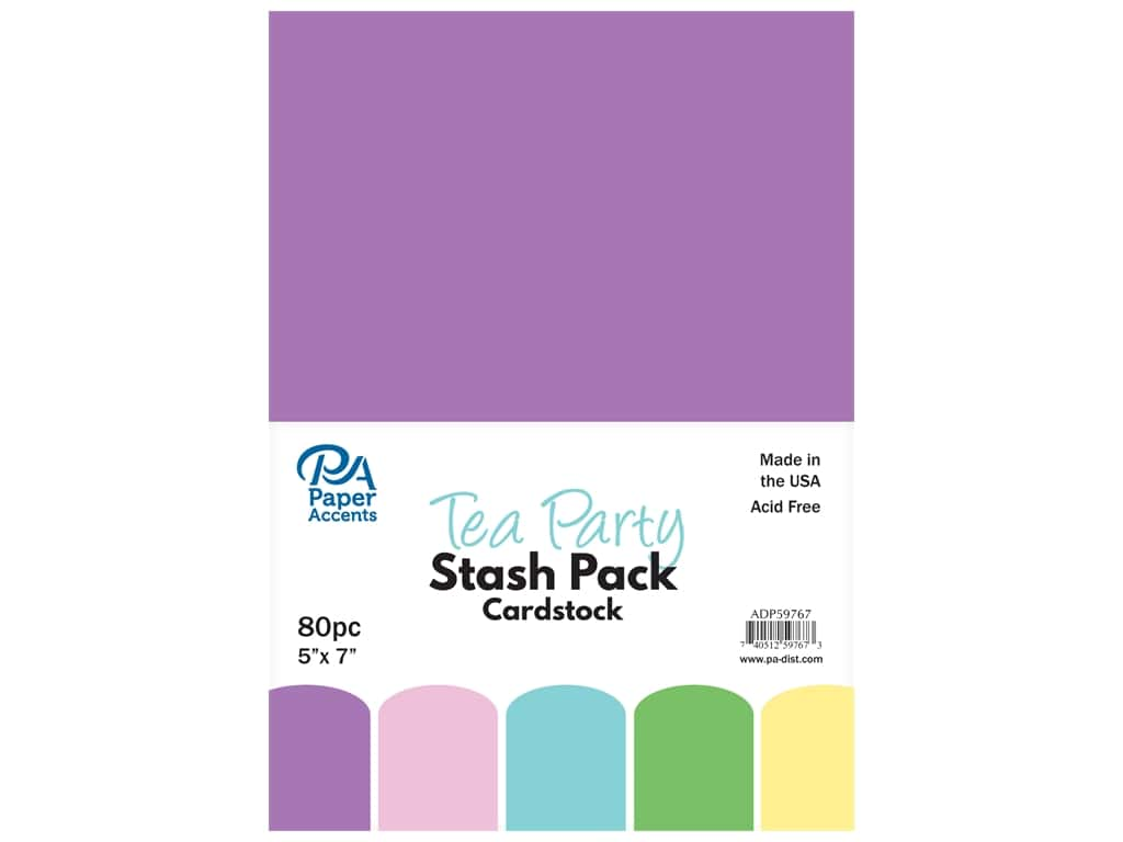 Paper Accents Cardstock Stash Pack 5 x 7 in. Tea Party 80 pc.