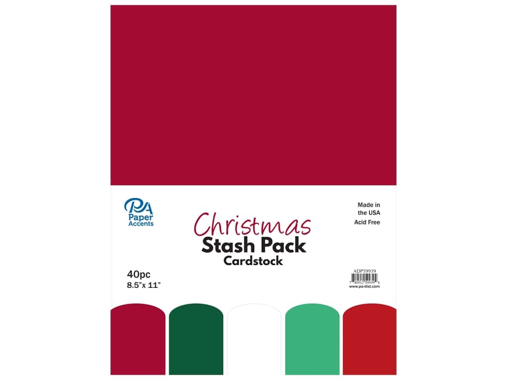 Paper Accents Cardstock Stash Pack 8 1/2 x 11 in. Christmas 40 pc.