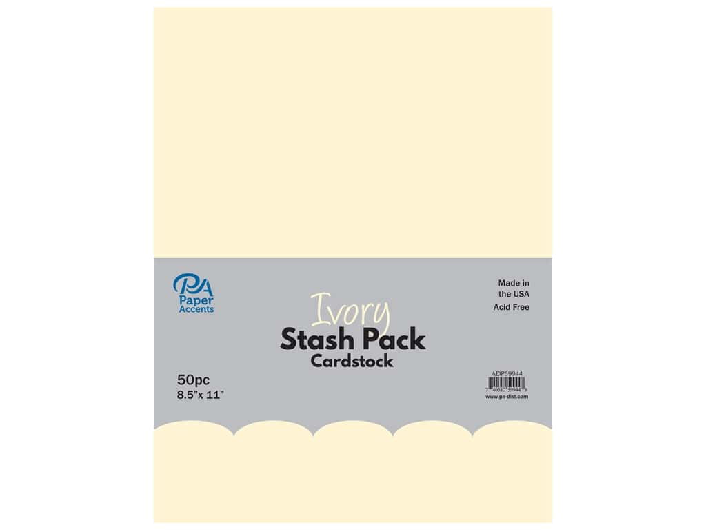 Paper Accents Cardstock Stash Pack 8 1/2 x 11 in. Ivory 50 pc.