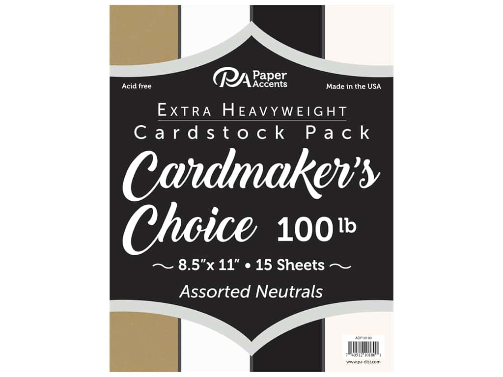 Paper Accents Cardstock 8 1/2 x 11 in. Cardmakers Choice Neutrals 15 pc.
