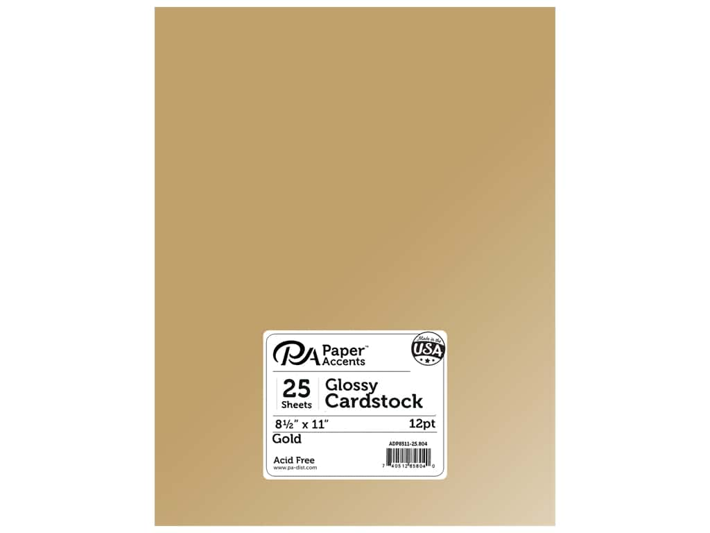 Paper Accents Cardstock 8 1/2 x 11 in. Glossy Gold (25 sheets)