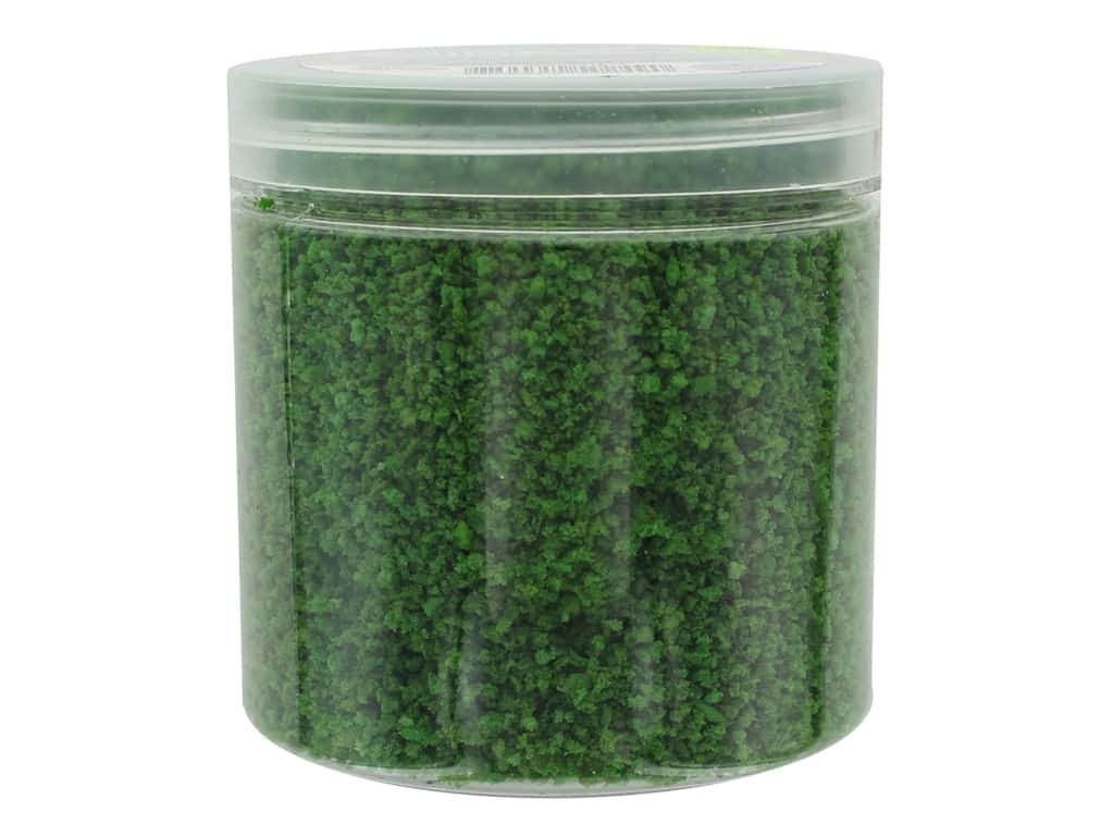 Darice Fairy Garden Grass 1 oz. Dark Green