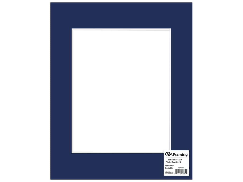 PA Framing Mat 11 in. x 14 in. /8 in. x 10 in. White Core Bottle Blue