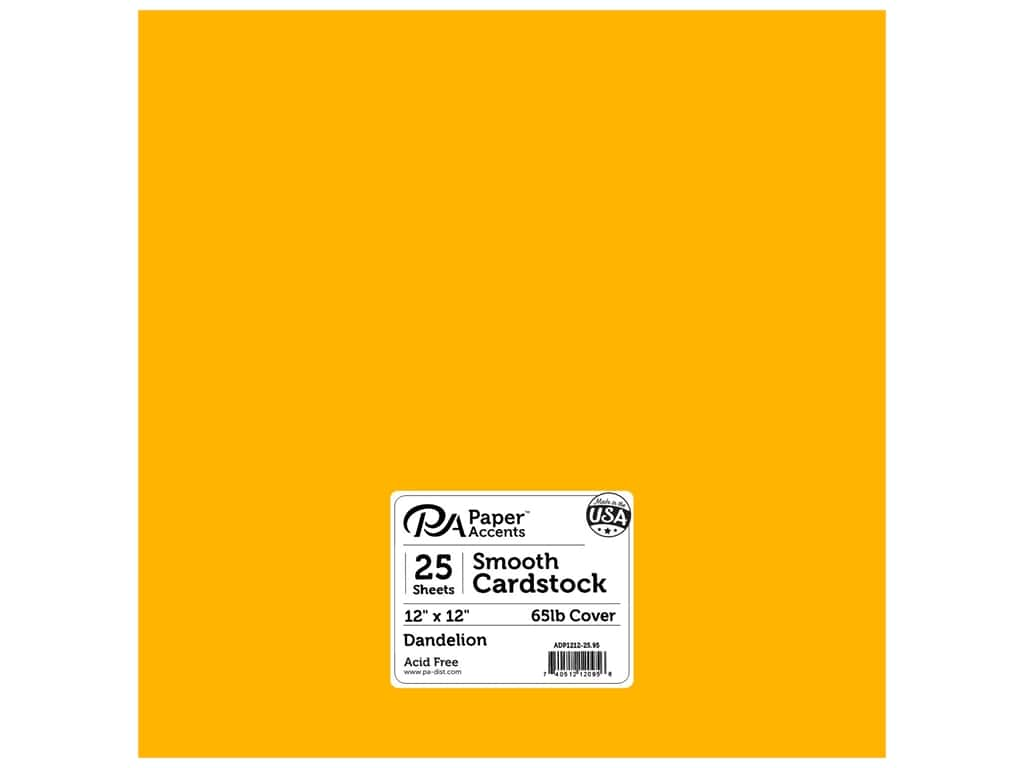 Paper Accents Cardstock 12 x 12 in. #95 Smooth Dandelion 25 pc.