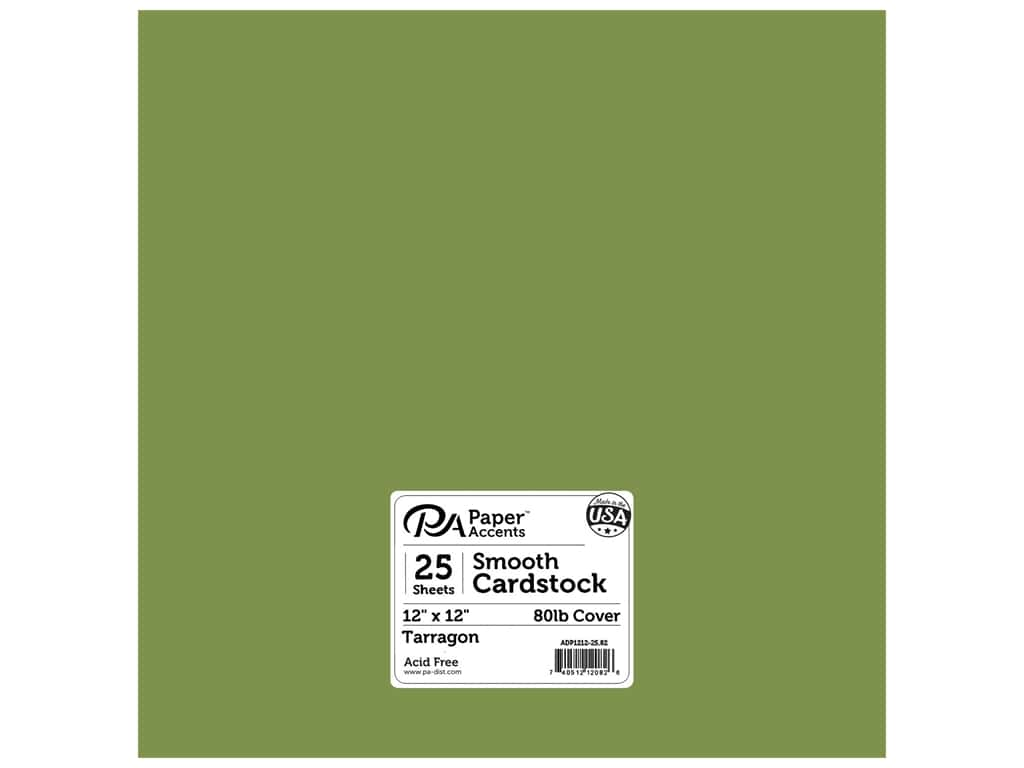 Paper Accents Cardstock 12 x 12 in. #82 Smooth Tarragon 25 pc.