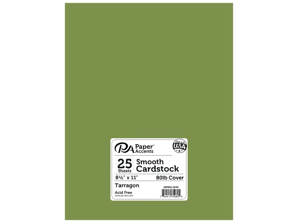 Paper Accents Cardstock 8 1/2 x 11 in. #82 Smooth Tarragon (25 sheets)