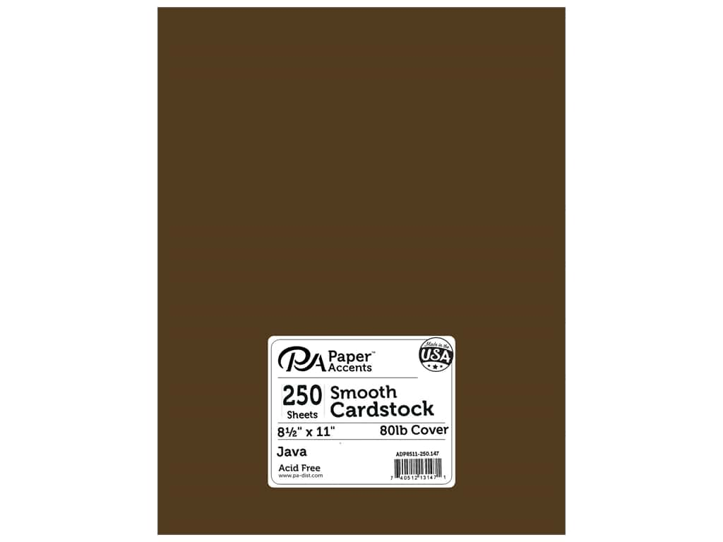Paper Accents Cardstock 8 1/2 x 11 in. #147 Smooth Java 250 pc.