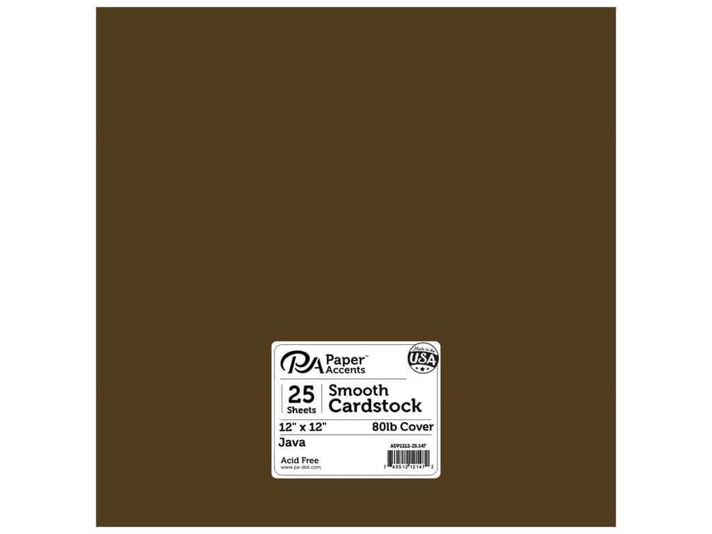 Paper Accents Cardstock 12 x 12 in. #147 Smooth Java 25 pc.