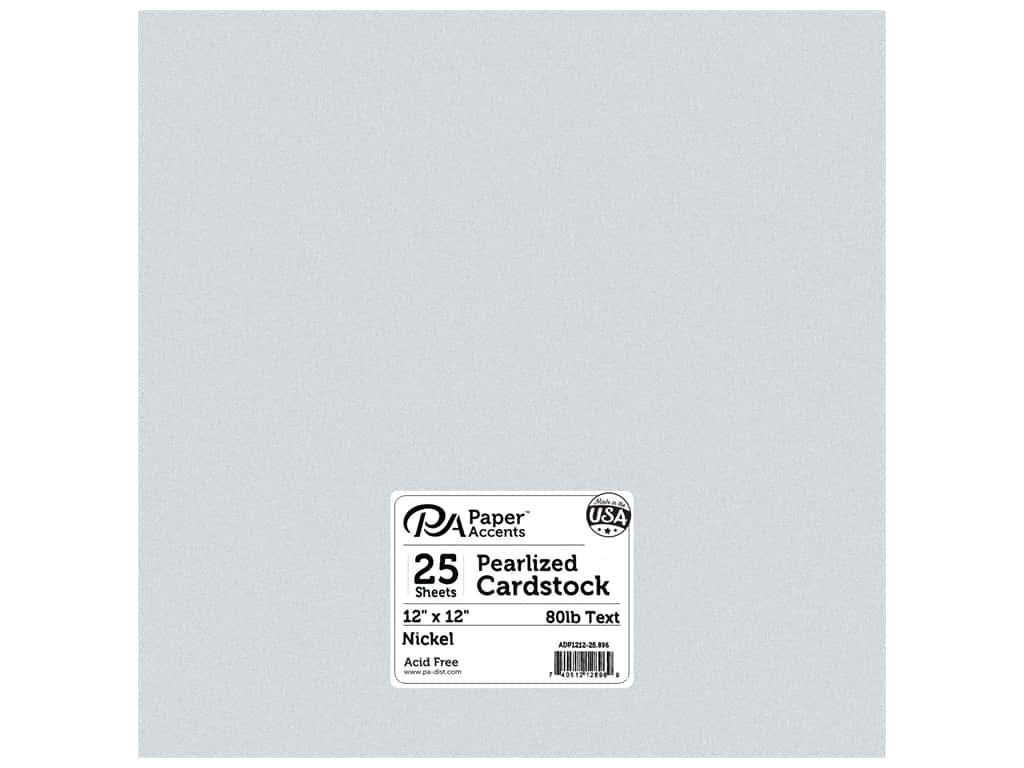 Paper Accents Cardstock 8 1/2 x 11 in. #896C Pearlized Nickel 25 pc.