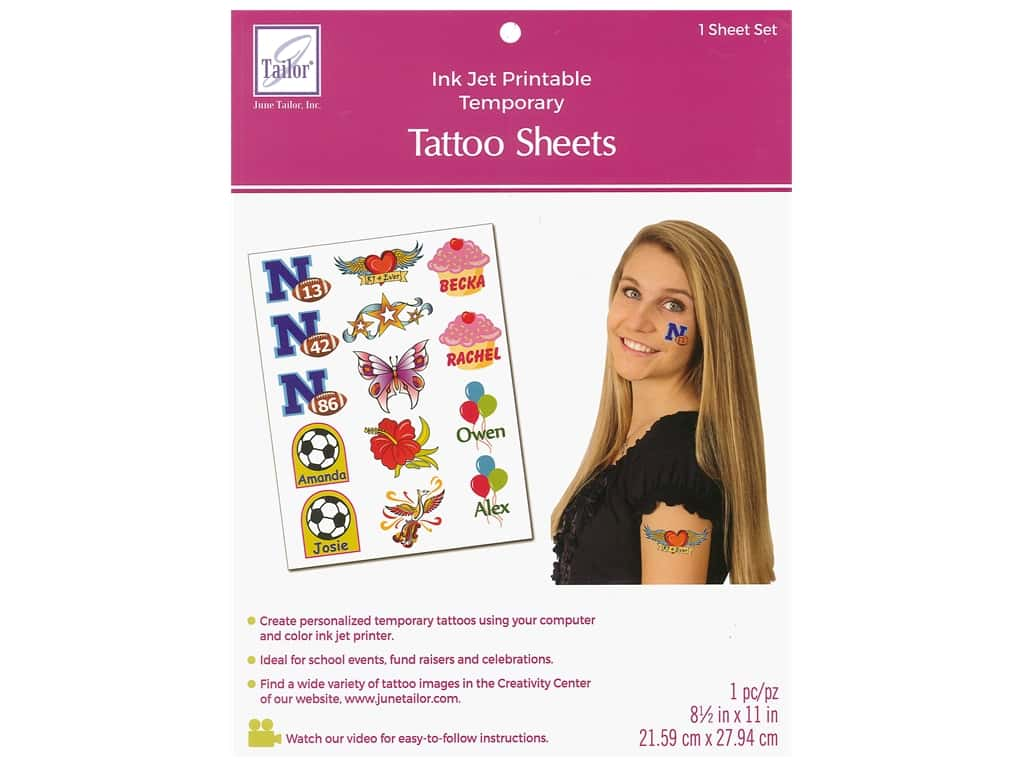 June Tailor Inkjet Printable Tattoo Sheet