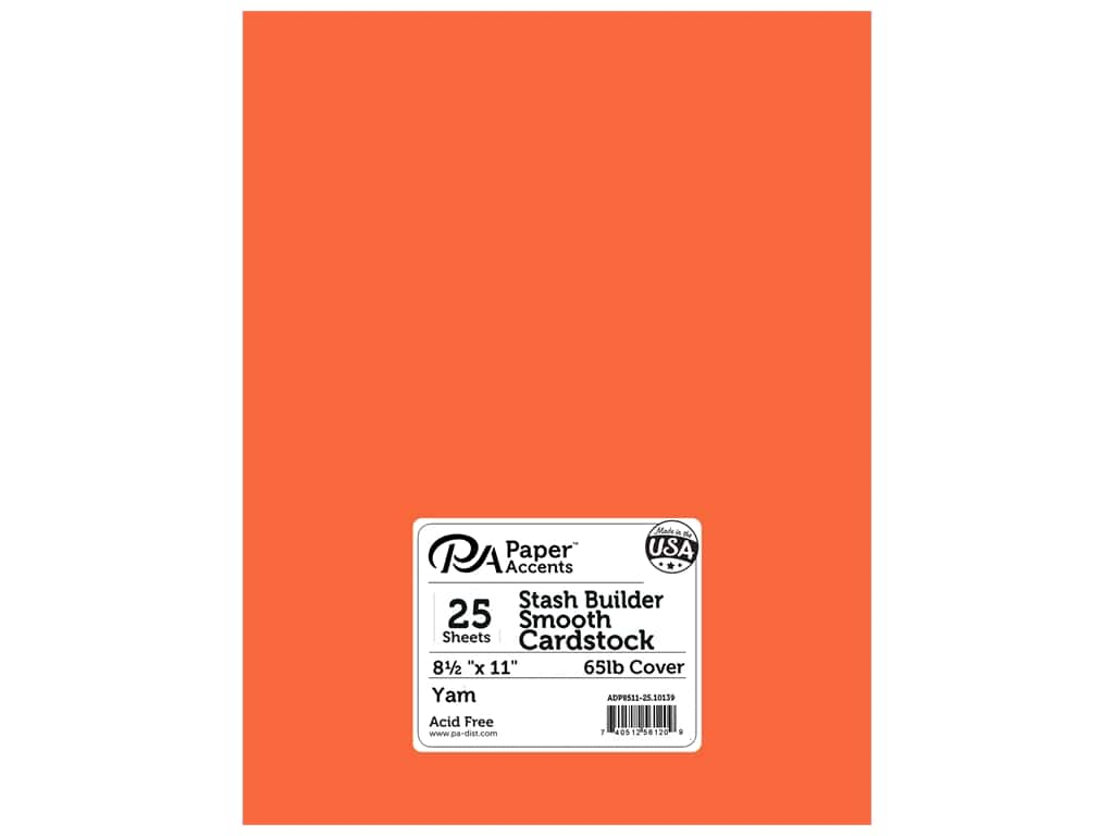 Paper Accents Cardstock 8 1/2 x 11 in. #10139 Stash Builder Yam 25 pc.