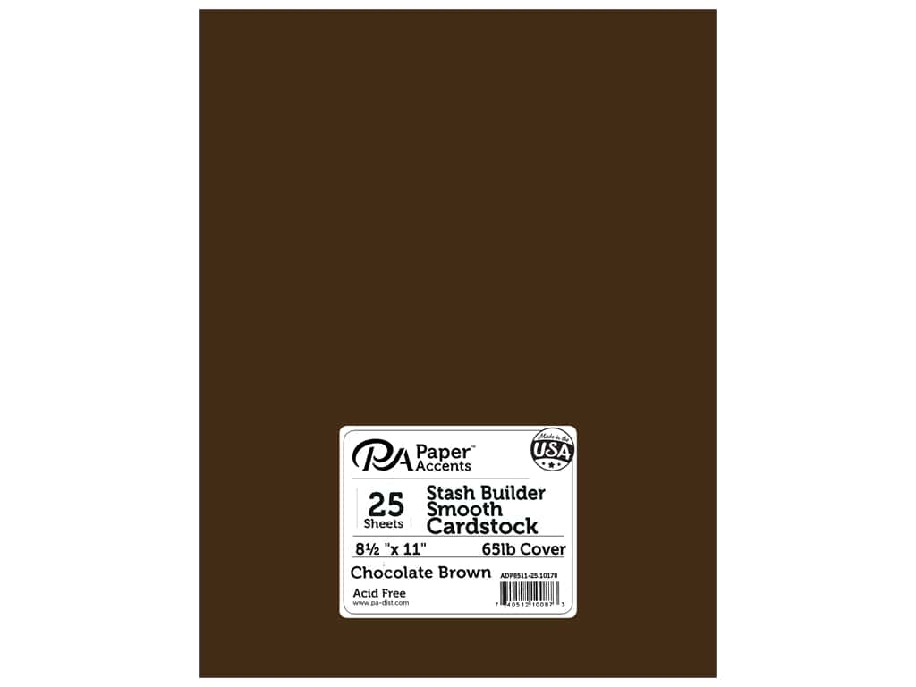 Paper Accents Cardstock 8 1/2 x 11 in. #10178 Stash Builder Chocolate Brown 25 pc.
