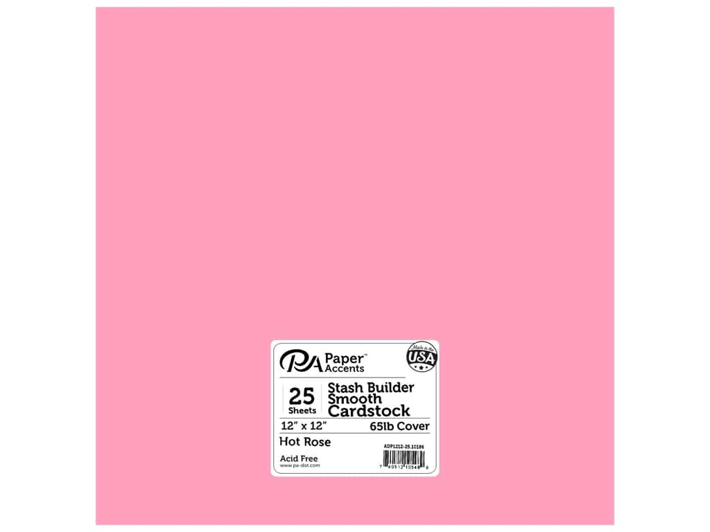 Paper Accents Cardstock 12 x 12 in. Stash Builder Hot Rose 25 pc.