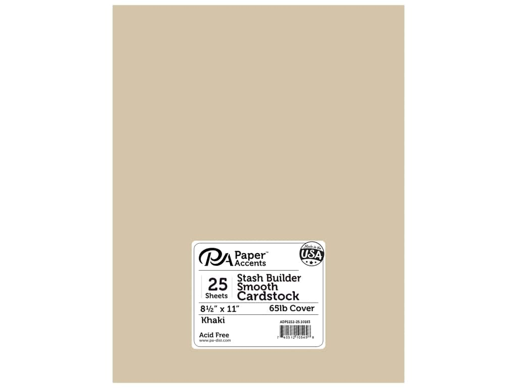 Paper Accents Cardstock 8 1/2 x 11 in. #10183 tash Builder Khaki 25 pc.