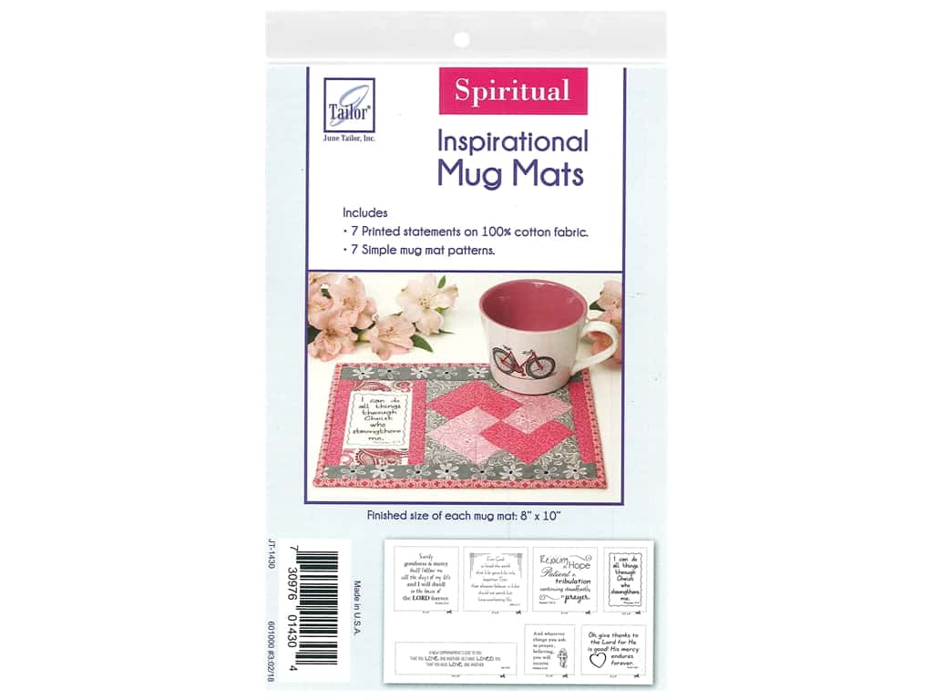 June Tailor Kit Inspirational Mug Mat Cotton Panel Spiritual
