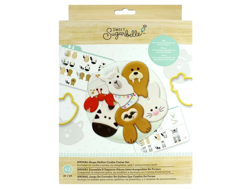 American Crafts Collection Sweet Sugarbelle Cookie Cutter Set Animal Shape Shifter