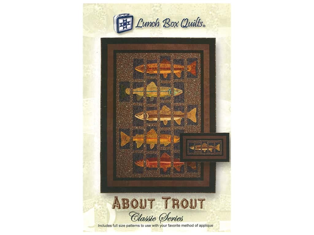 Lunch Box Quilts About Trout Pattern