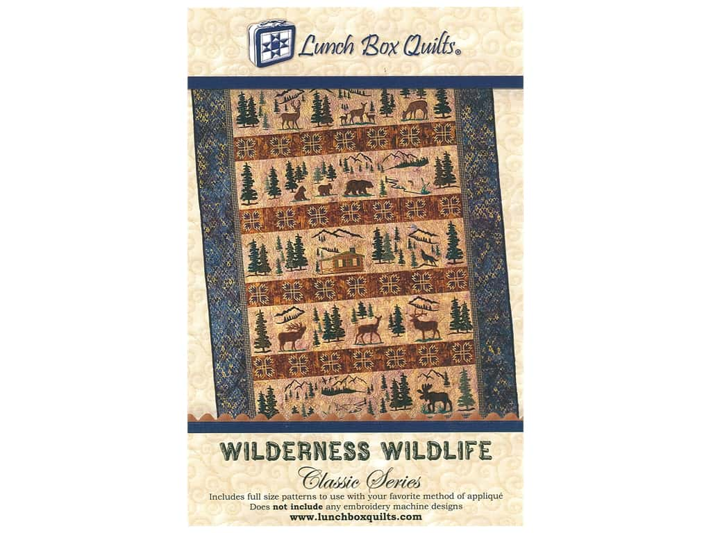 Lunch Box Quilts Wilderness Wildlife Pattern