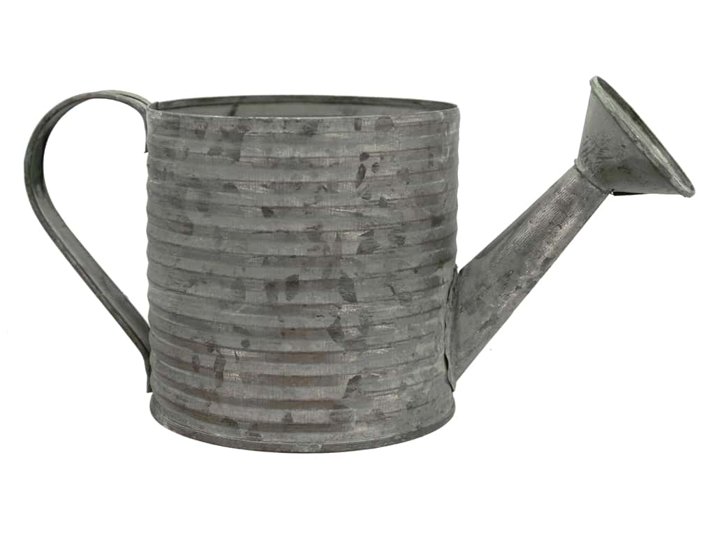 Sierra Pacific Decor Metal Watering Can 4.5 in. x 9.5 in. x 4.5 in. Galvanized