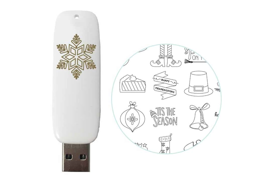 We R Memory Collection Foil Quill USB Drive Holiday