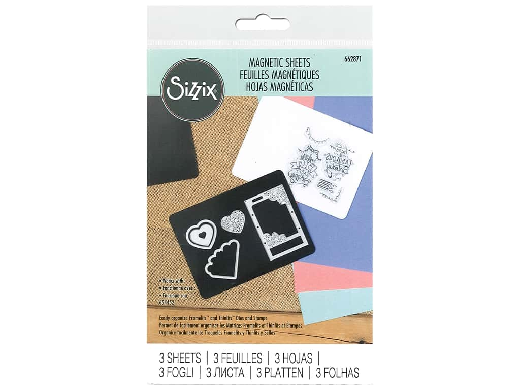 Sizzix Magnetic Sheet Doubled Sided 3 pc