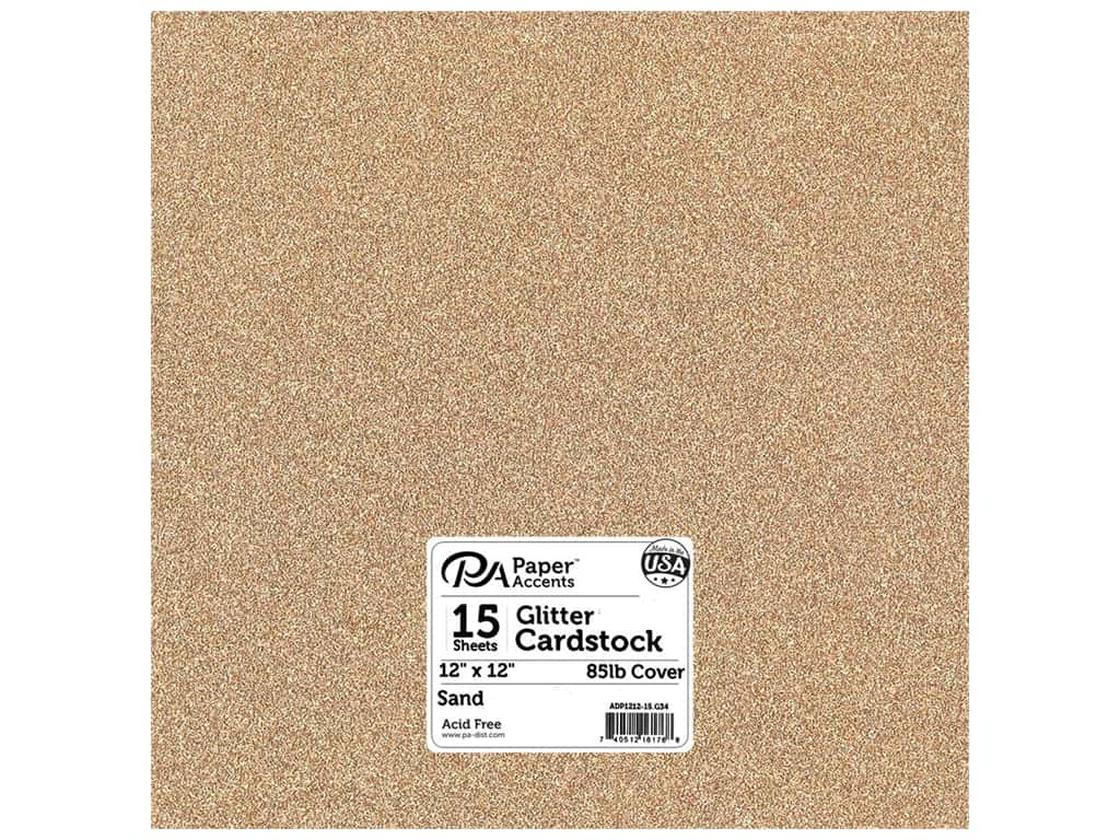 Paper Accents Glitter Cardstock 12 x 12 in. #G34 Sand 15 pc.