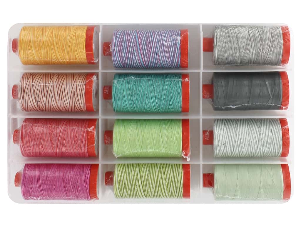 Aurifil Tula Pink Premium Thread Collection 12 pc.
