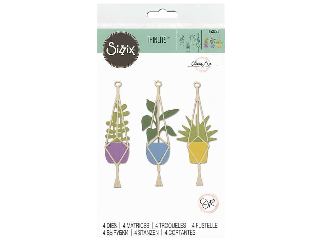 Sizzix Olivia Rose Thinlits Die Set 4 pc. Hanging Planter