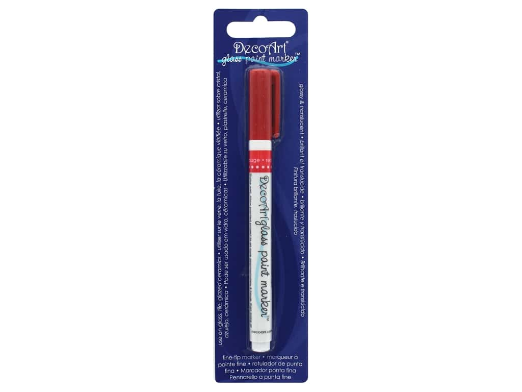 DecoArt Glass Paint Marker Red