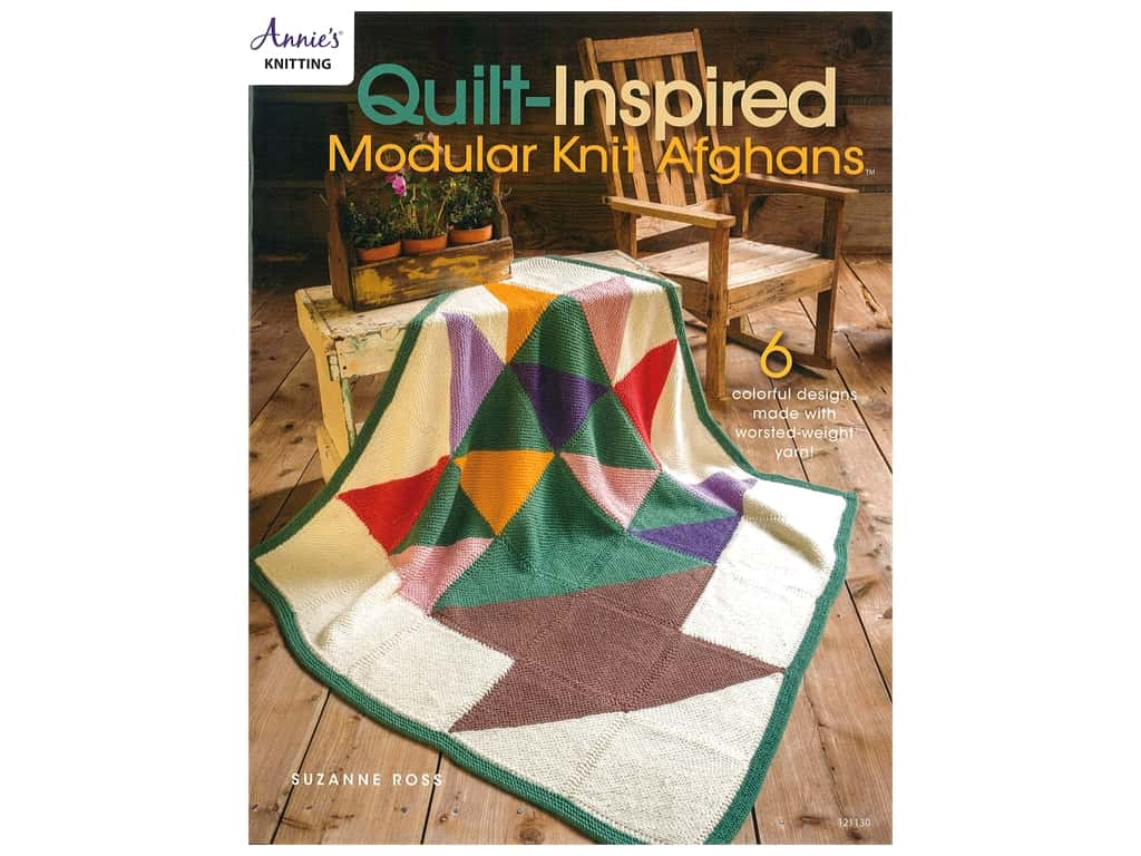 Annie's Quilted Inspired Modular Knit Afghans Book