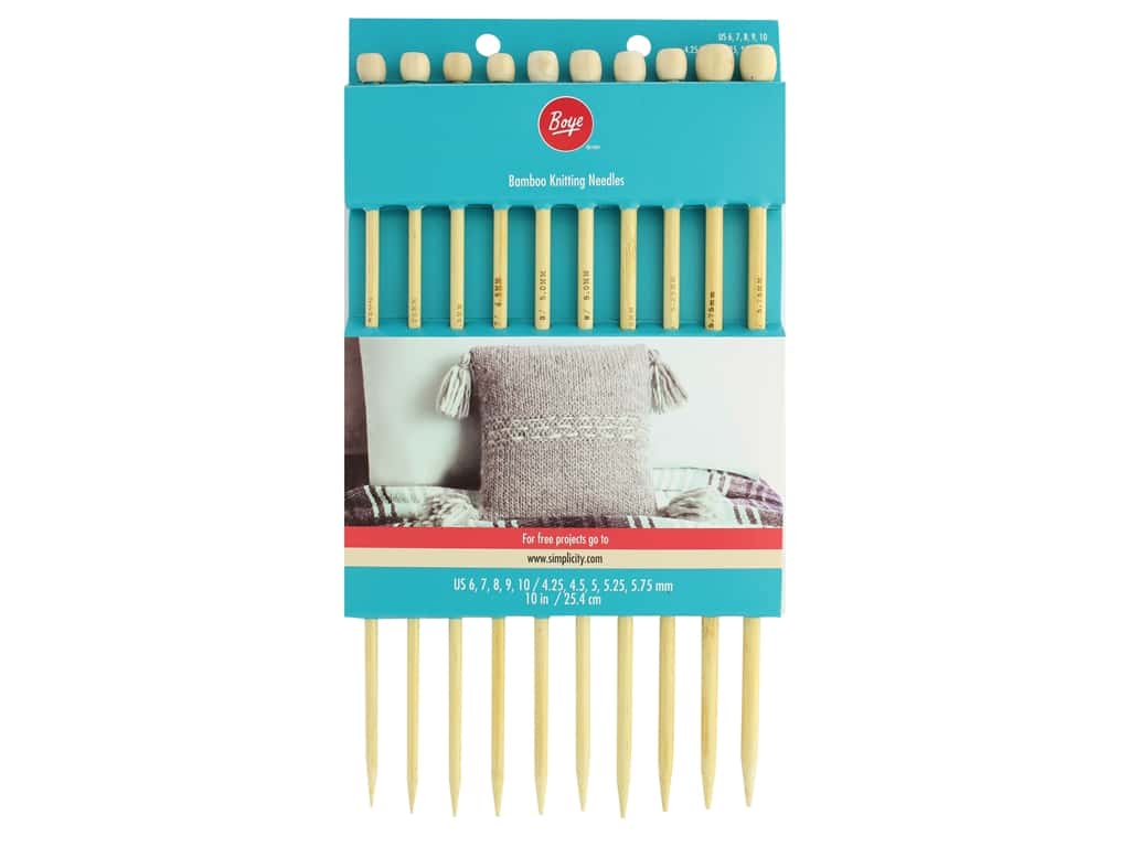 Boye Needle Sets Bamboo Knitting Needles 10 in. Set