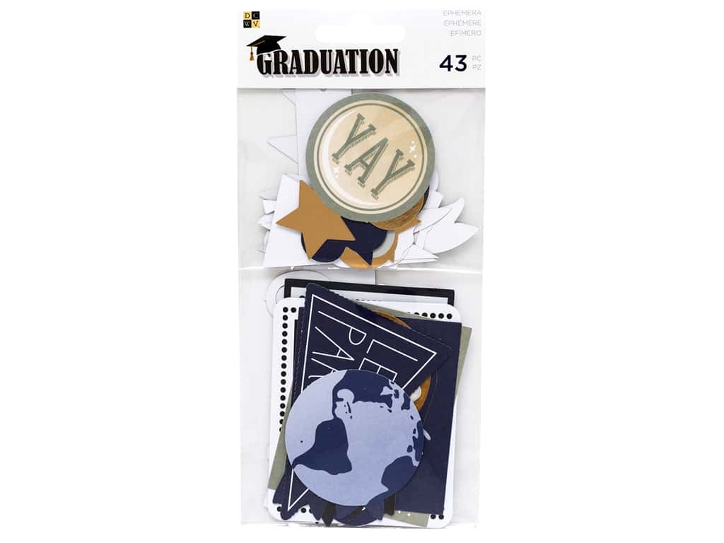 DieCuts Collection Graduation Ephemera Gold Foil