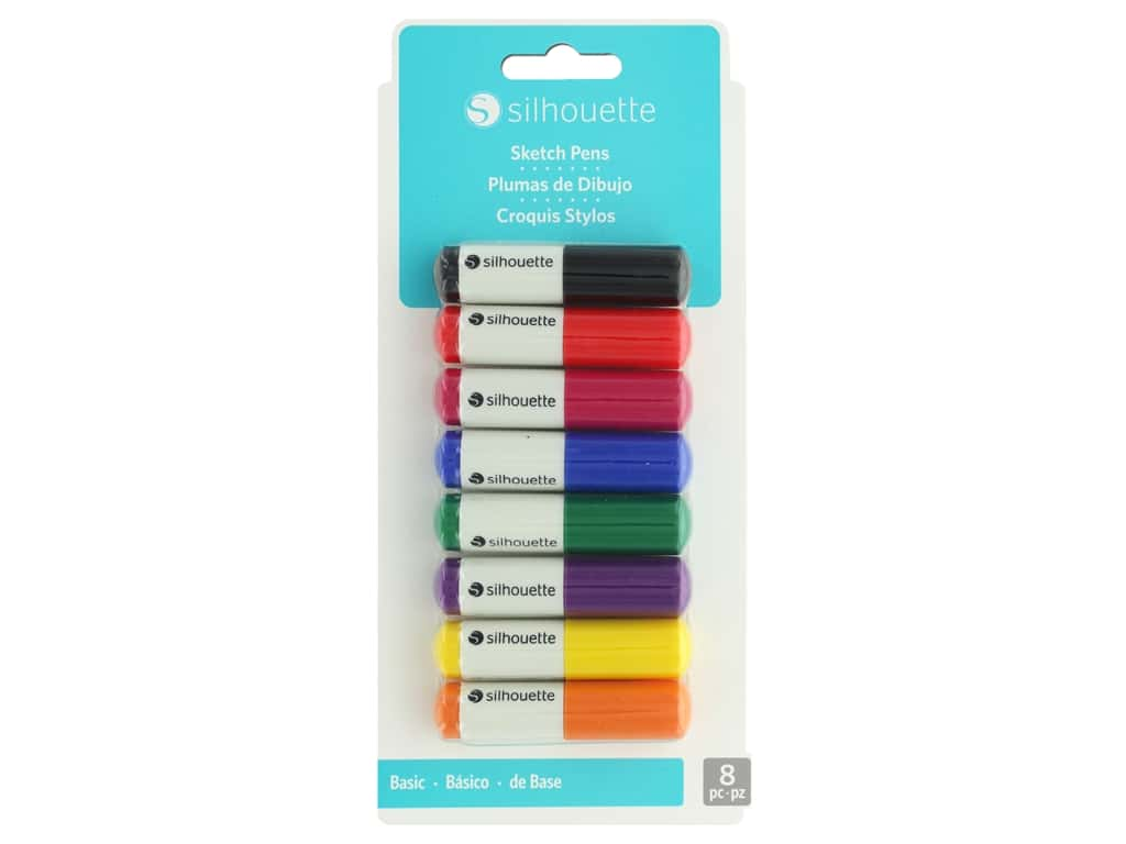 Silhouette Sketch Pens 8 pc. Basic
