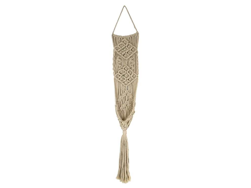 Sierra Pacific Wall Art Macrame Long Weave 5.5 in. x 30 in. Natural