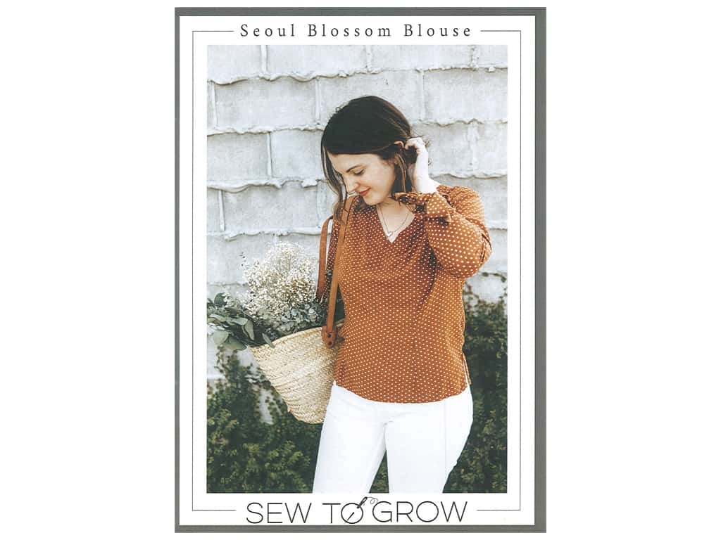 Sew To Grow Seoul Blossom Blouse  Pattern
